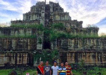 Koh Ker, the lonely pyramid temple in the jungle, known as the Khmer empire capital city (AD 928-942).